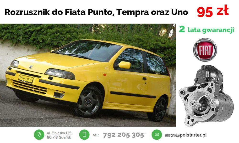 Rozrusznik Fiat Punto 1 4 Turbo Tempra Uno 1 4 6656470354 Oficjalne Archiwum Allegro Fiat Uno Fiat Suv Car