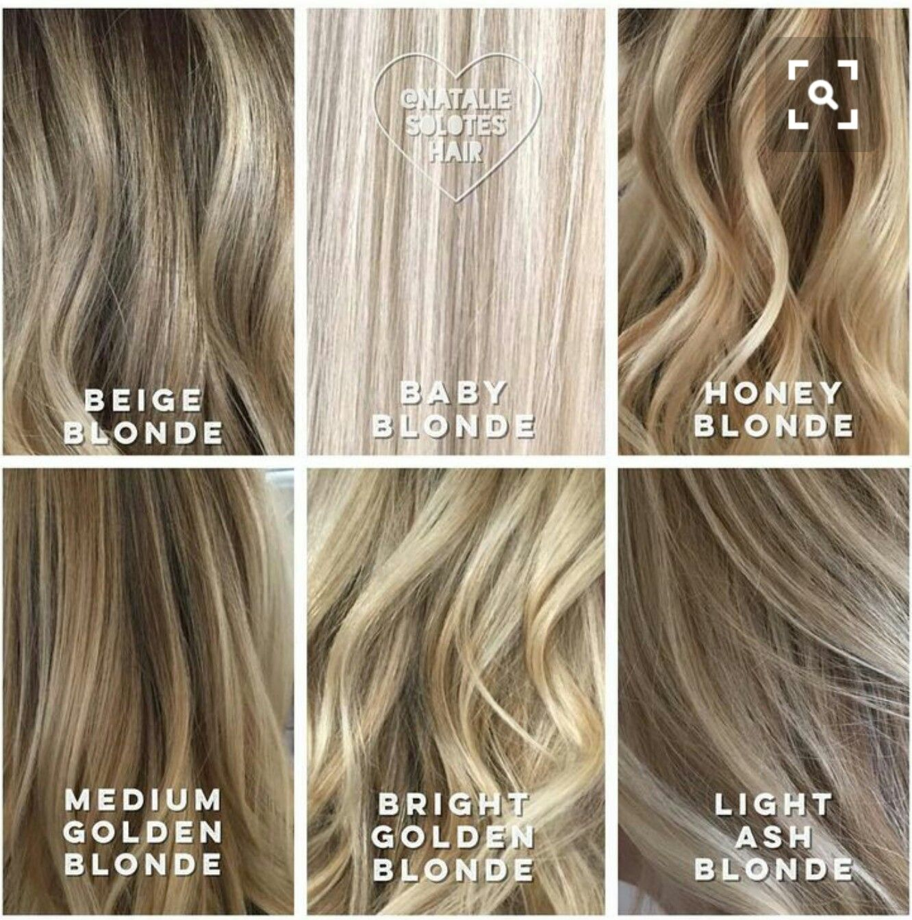 Shades Of Blonde Hair Styles Hair Hair Color