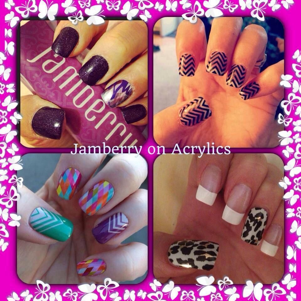 Jamberry Nail Wraps over acrylics! They can be applied on your ...