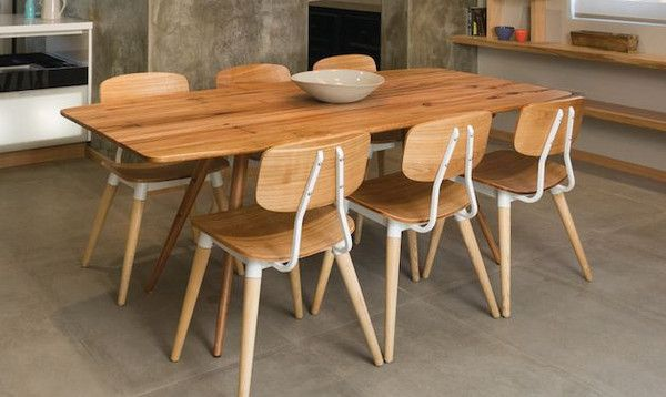 Curious Grace Sixties Modern Dining Table with Copine dining chairs by Sean  Dix. Curious Grace Sixties Modern Dining Table with Copine dining