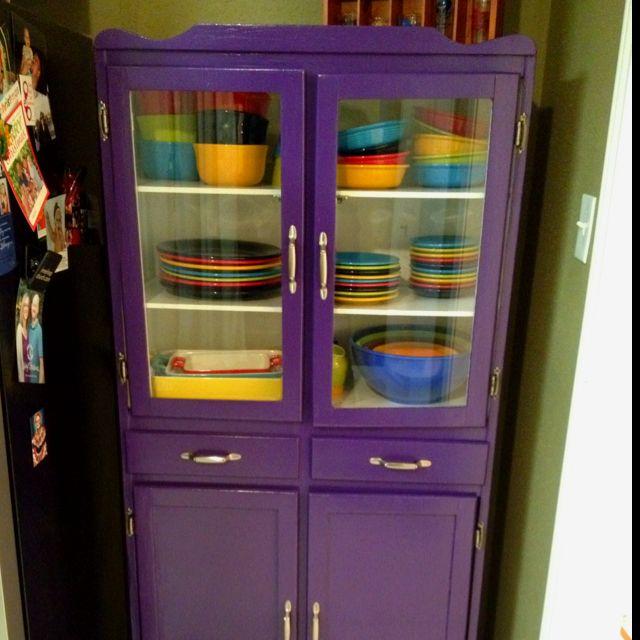 Pin By Kate Millar On Bits N Bobs Purple Kitchen Purple Cabinets Purple Home