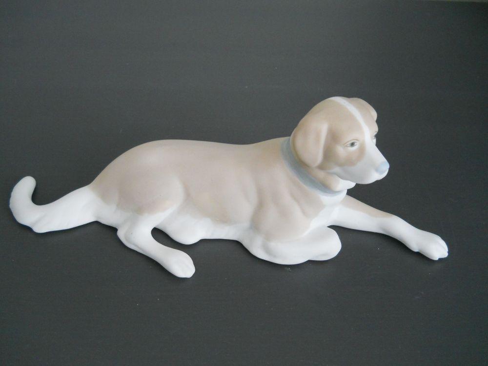 Fabulous Porceval Spain Bisque Porcelain Lab Labrador Retriever Dog Figurine