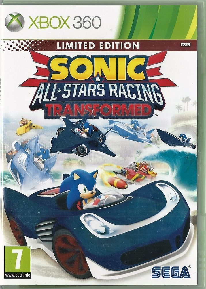 Xbox 360 Sonic All Stars Racing Transformed Xbox One Compatible Xbox 360 Xbox Nintendo Pokemon
