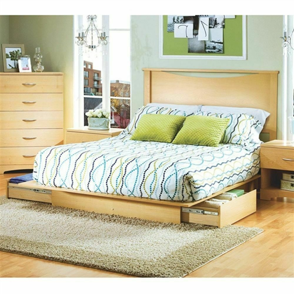 Pin on Platform Bed with Storage