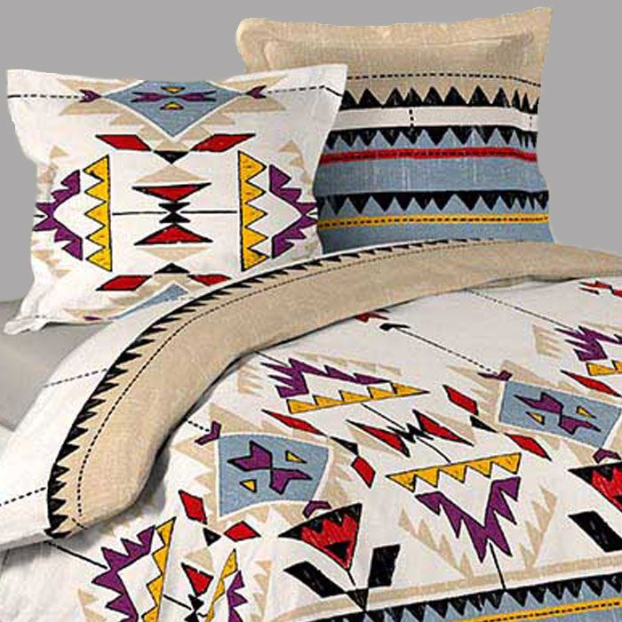 housse de couette ethnique inca 2 taies d oreillers. Black Bedroom Furniture Sets. Home Design Ideas