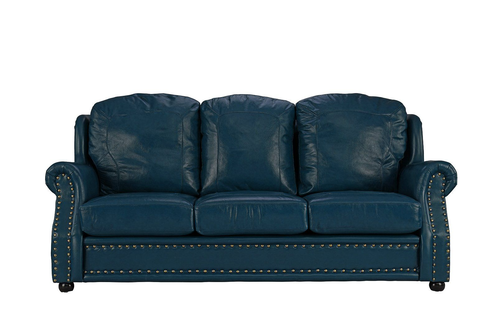 Savannah Clic Executive Style Top Gain Leather Match Sofa