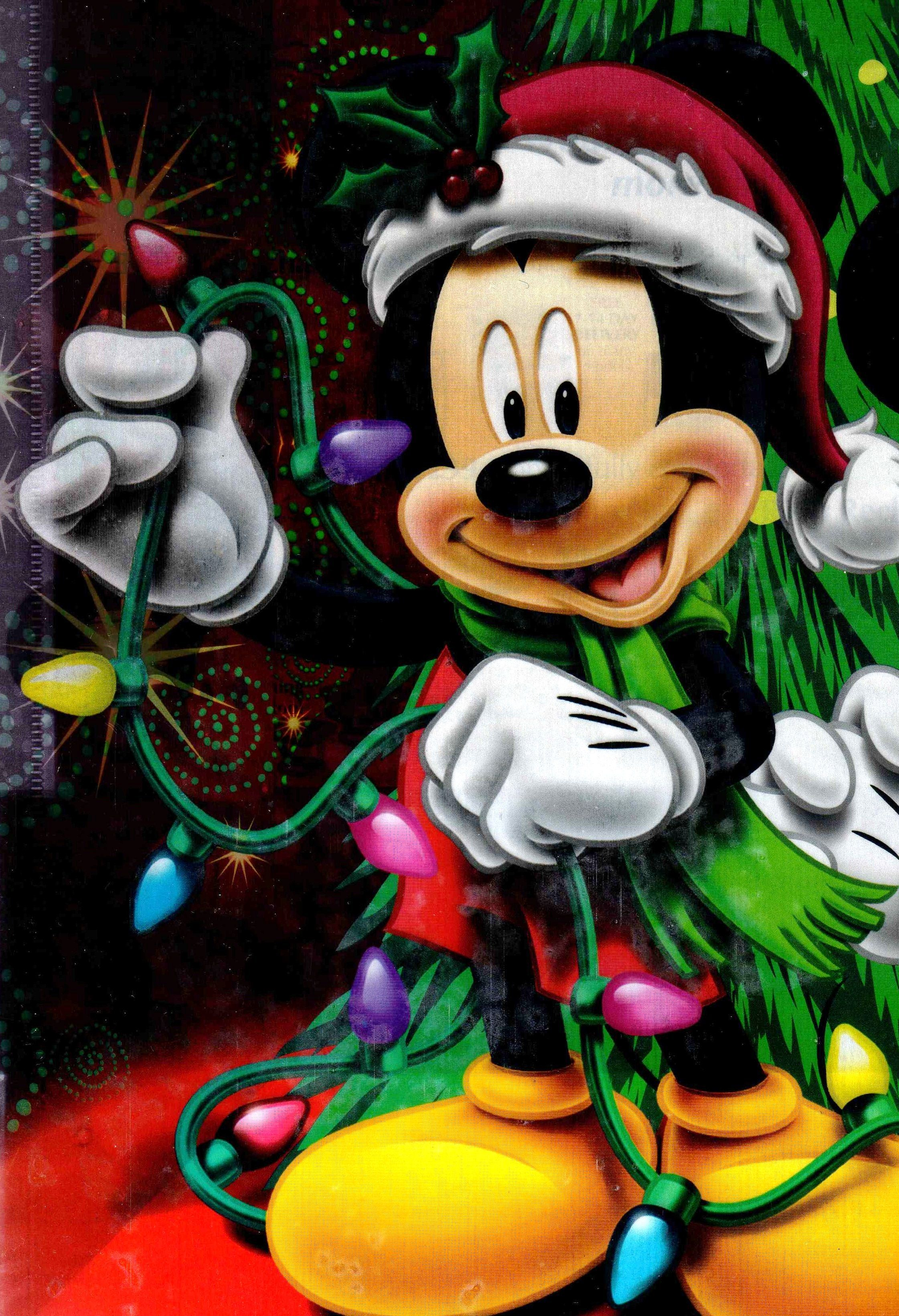 mickey mouse fixing the christmas lights - Mickey Mouse Christmas Lights