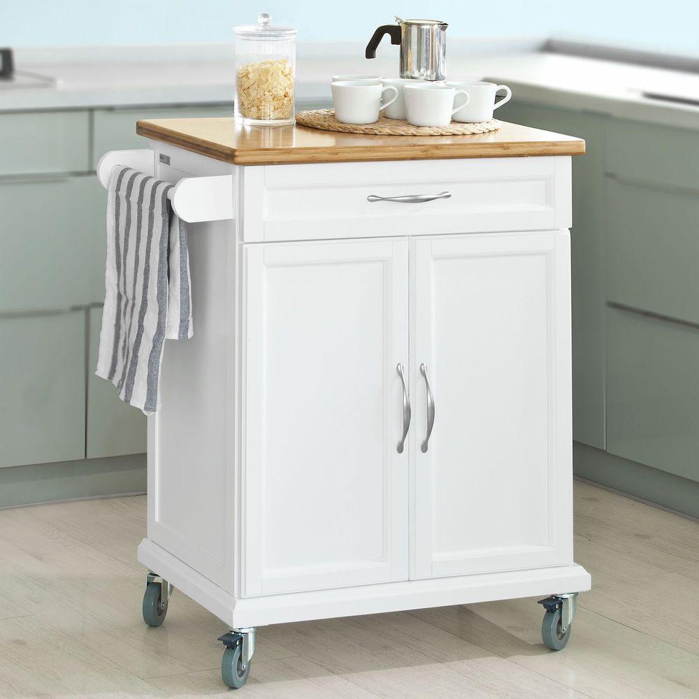 Extra Kitchen Storage Sobuy Kitchen Cabinet Kitchen Storage Trolley Cart With Bamboo Top