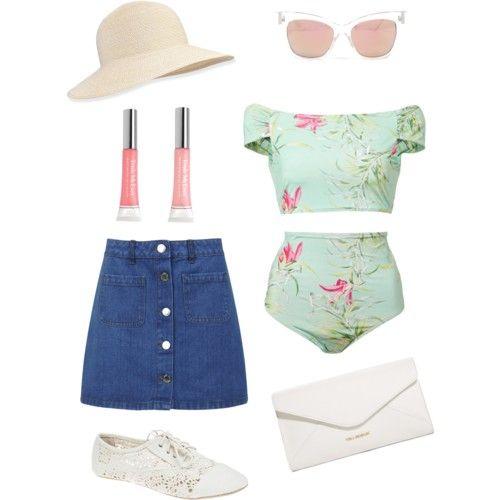 Also summer days by ilyb4u on Polyvore featuring polyvore fashion style ADRIANA DEGREAS Miss Selfridge Wet Seal Vera Bradley Eric Javits Trish McEvoy