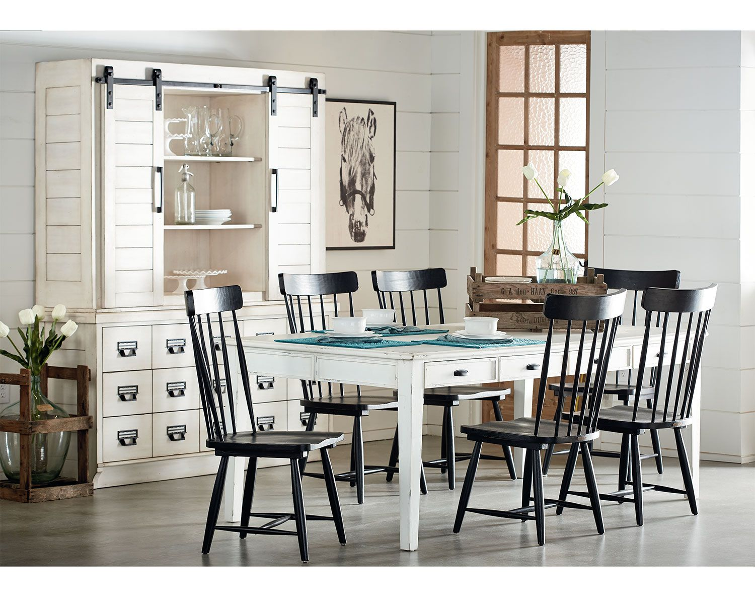The Farmhouse Dining Collection Antique White Value