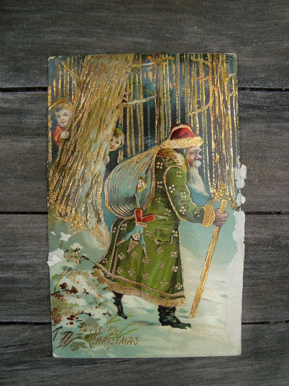 Antique 1900s Old World Father Christmas by SofiasCobwebMuseum...$15