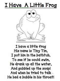 frog stuff and poem so adorable right | Braelinn | Kids poems, Kids