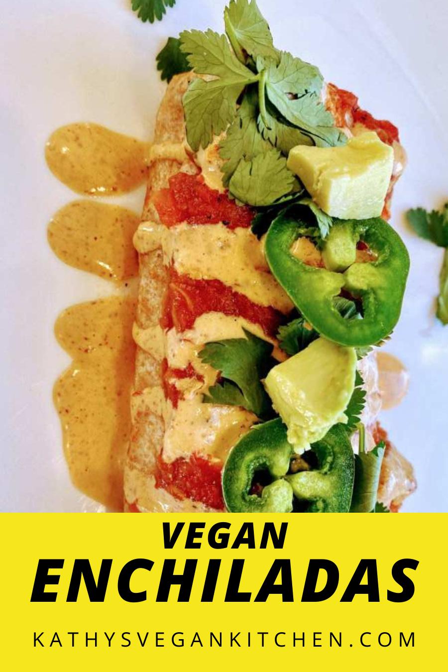 Vegan Enchiladas Vegan Enchiladas Recipe Kathy S Vegan Kitchen Recipe In 2020 Vegan Comfort Food Vegan Dinner Recipes Easy Vegan Enchiladas