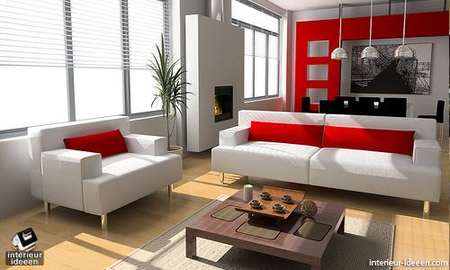 Rode woonkamer voorbeelden - woonideeën | Pinterest - Woonkamer ...