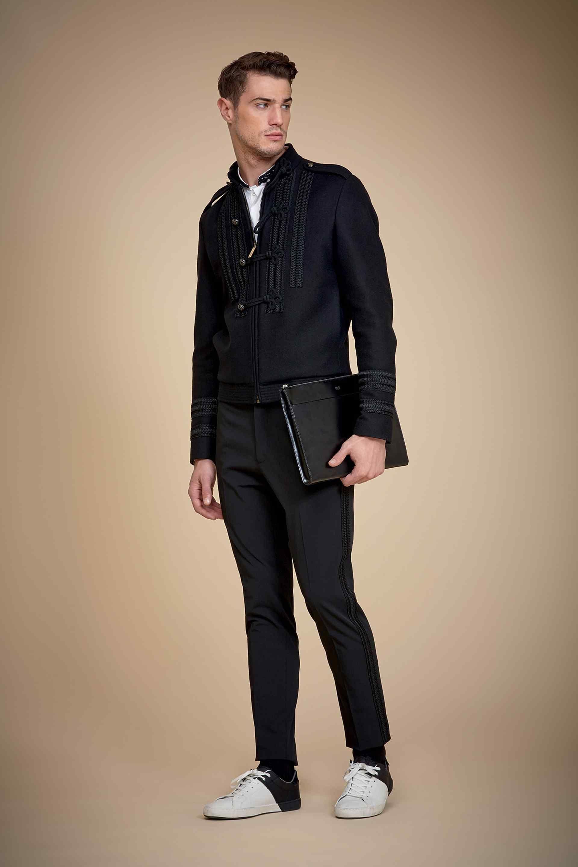 Men S Black Bomber Jacket White Dress Shirt Black Dress Pants White And Black Leather Low Top Sneakers Black Dress Pants White Shirt Dress Bomber Jacket Dress [ 2880 x 1920 Pixel ]