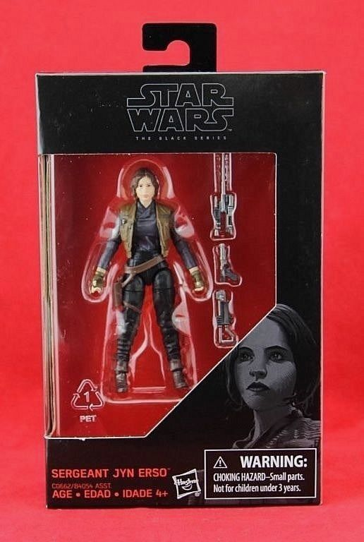 Sergeant Jyn Erso Star Wars Rogue One Black Series Exclusive 3.75 Action Figure #Hasbro