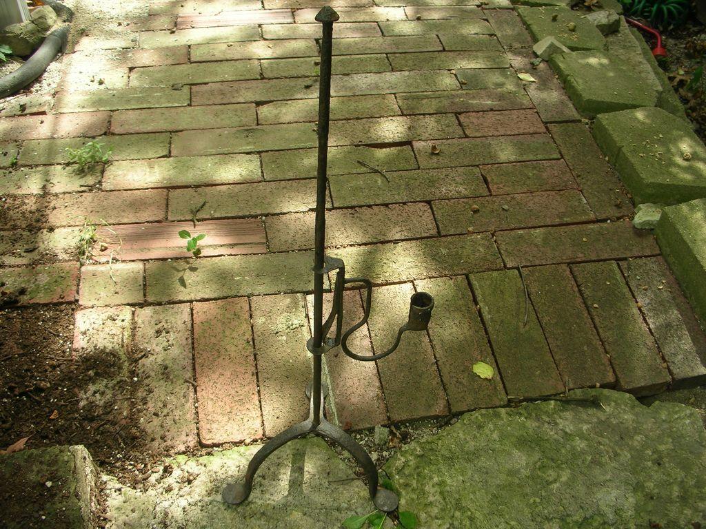 Antique 18th Century Primitive Wrought Iron Adjustable