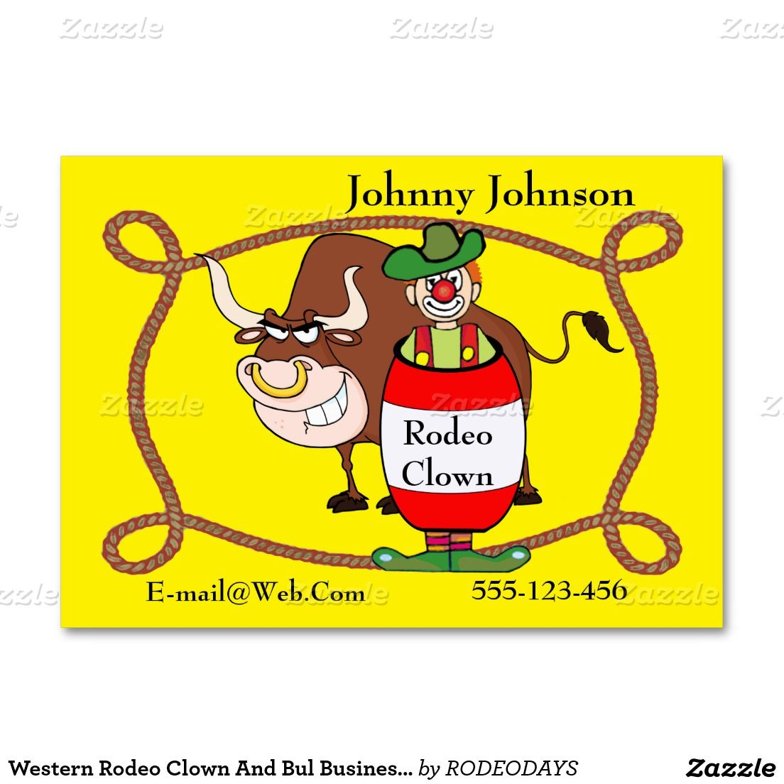 Western rodeo clown and bull business card template rodeo clown western rodeo clown and bull business card template colourmoves