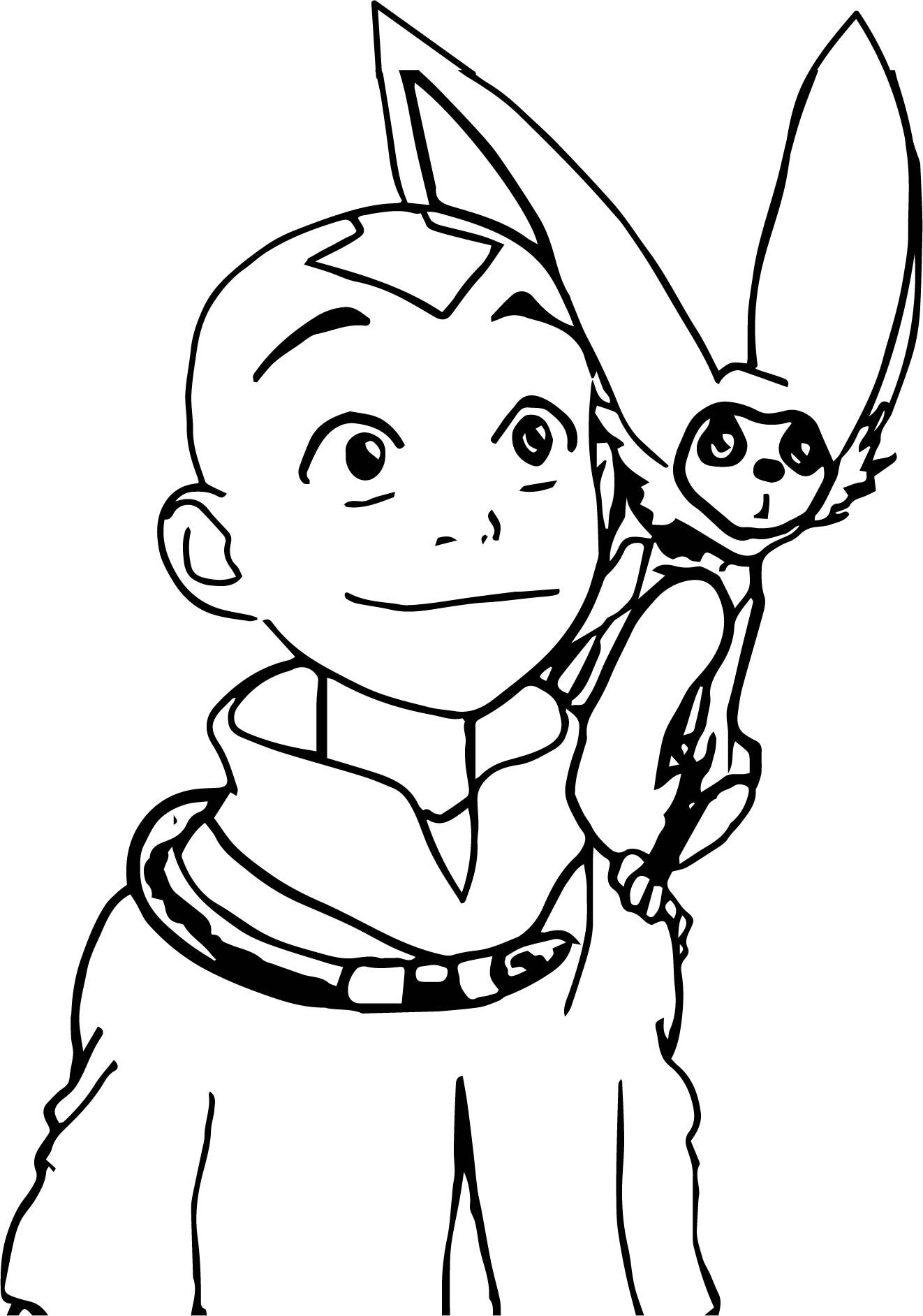 Nice Aang And Momo Ynnck Decmk Avatar Aang Coloring Page Avatar Aang Coloring Pages Aang