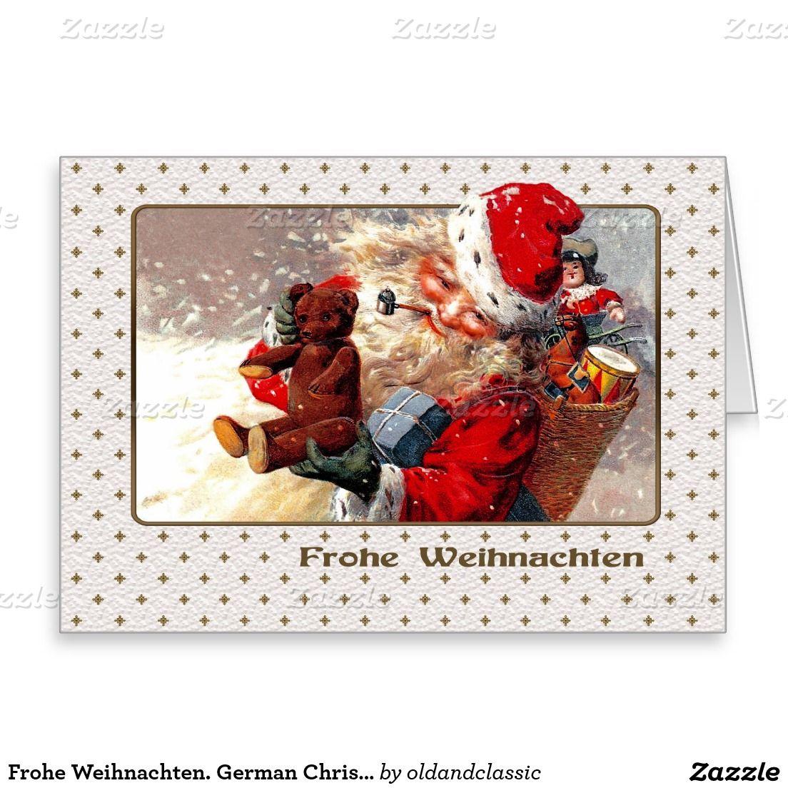 Frohe Weihnachten German Christmas Card Pinterest Christmas