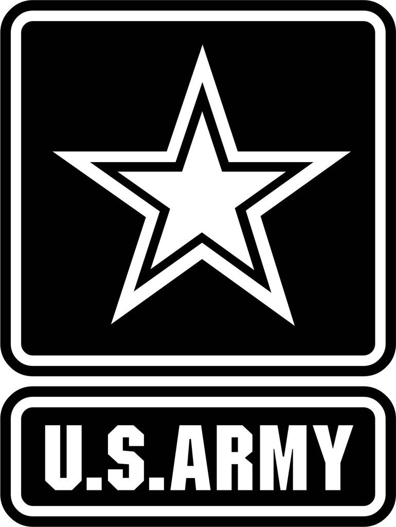 U S Army Vinyl Decal Military Decals Us Army Logo Us