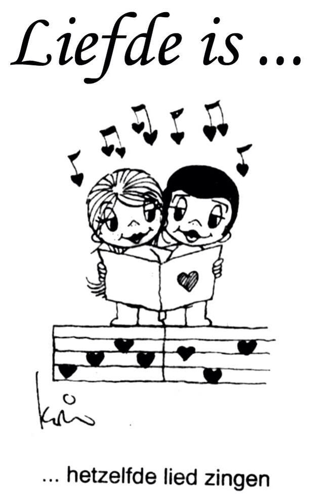 liefde ishetzelfde lied zingen.   love is   love, love life