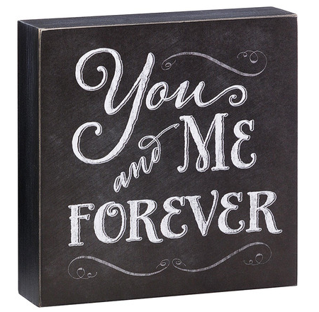 Place this block as a reminder of the love you began and will have forever.