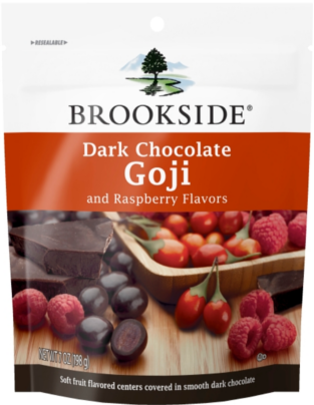 Dark Chocolate Goji with Raspberry - Delicious chocolate that brings out your Brookside