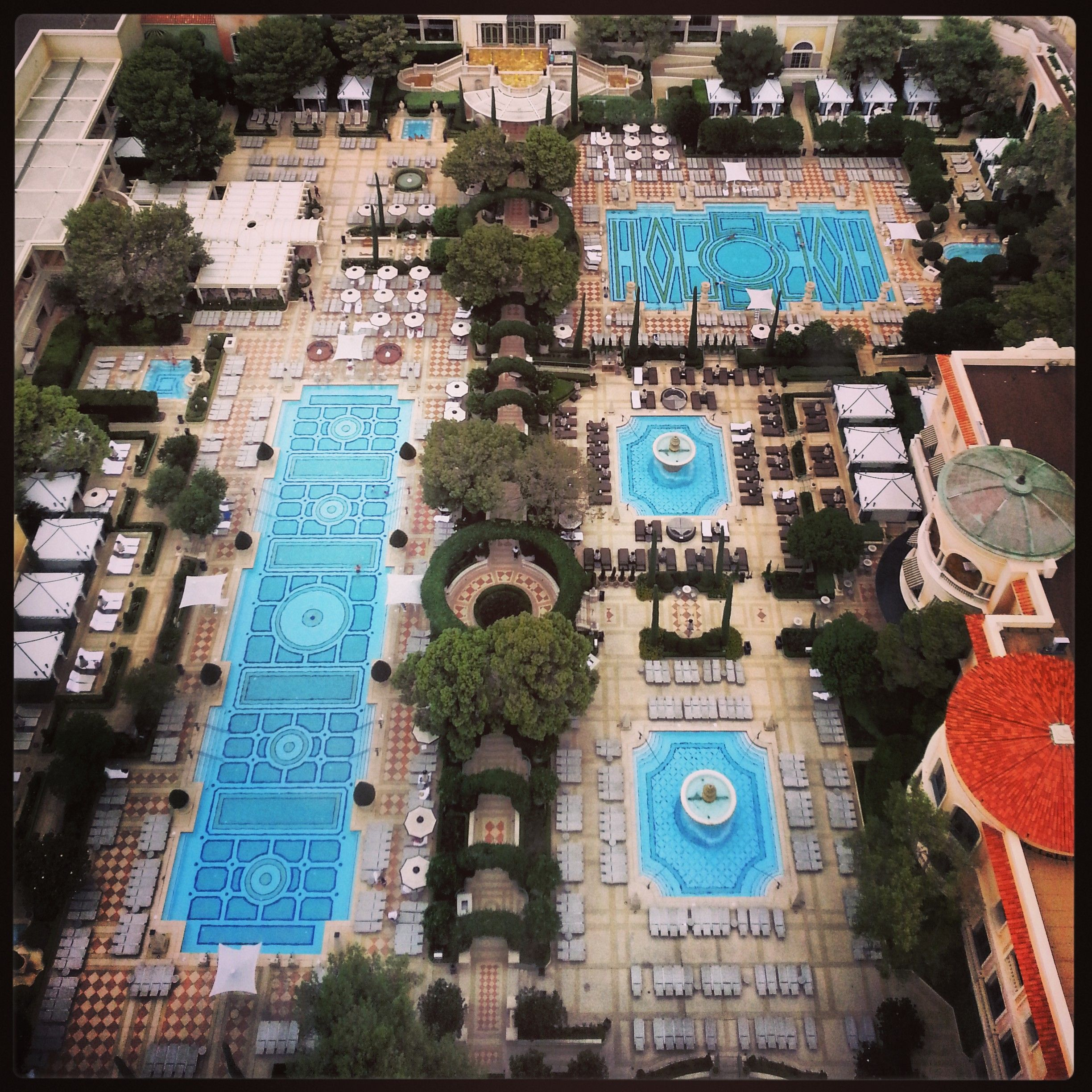 View Of The Pools From Our Spa Tower Vegas Pools Sunshine Hotels I 39 Ve Stayed At