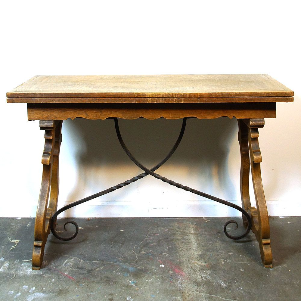 30s Spanish Mission Style Table / Vintage 1930s Wood