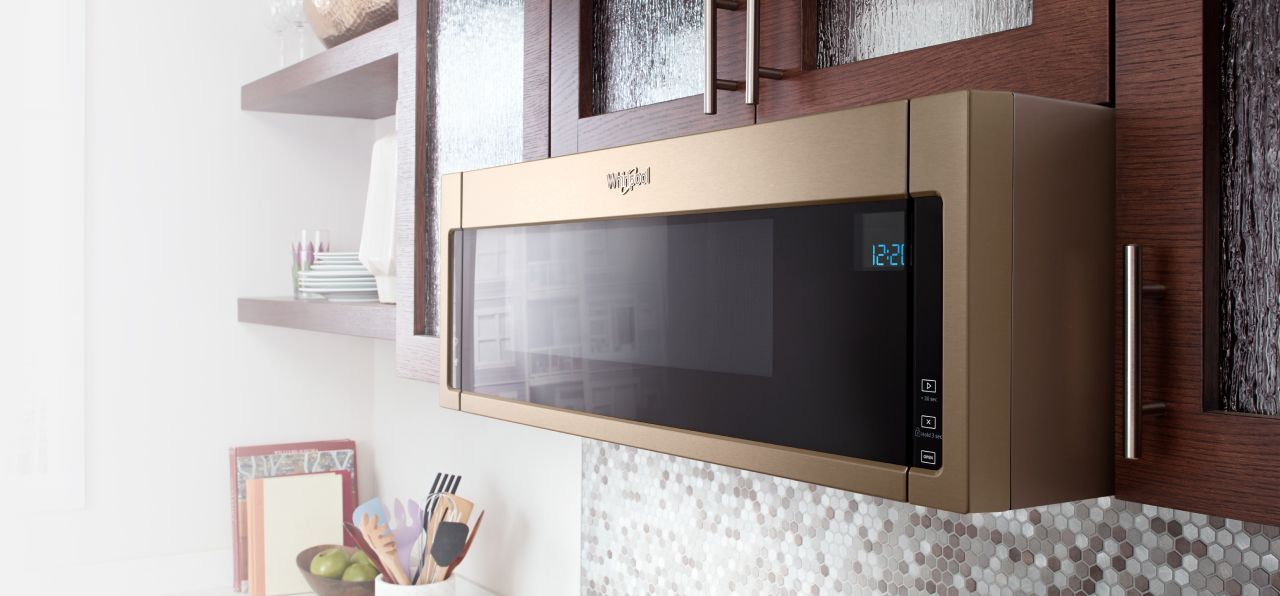 Low Profile Microwaves With Under Cabinet Mounting From Whirlpool Microwave Over Range Microwave Home Remodeling