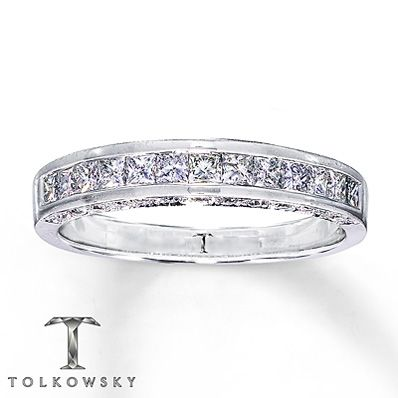 4df28d66c Tolkowsky Wedding Band 3/4 ct tw Diamonds 14K White Gold | rings ...
