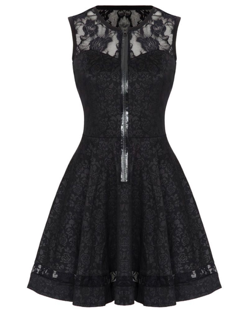 Jawbreaker black rose jacquard lace gothic steampunk vtg victorian