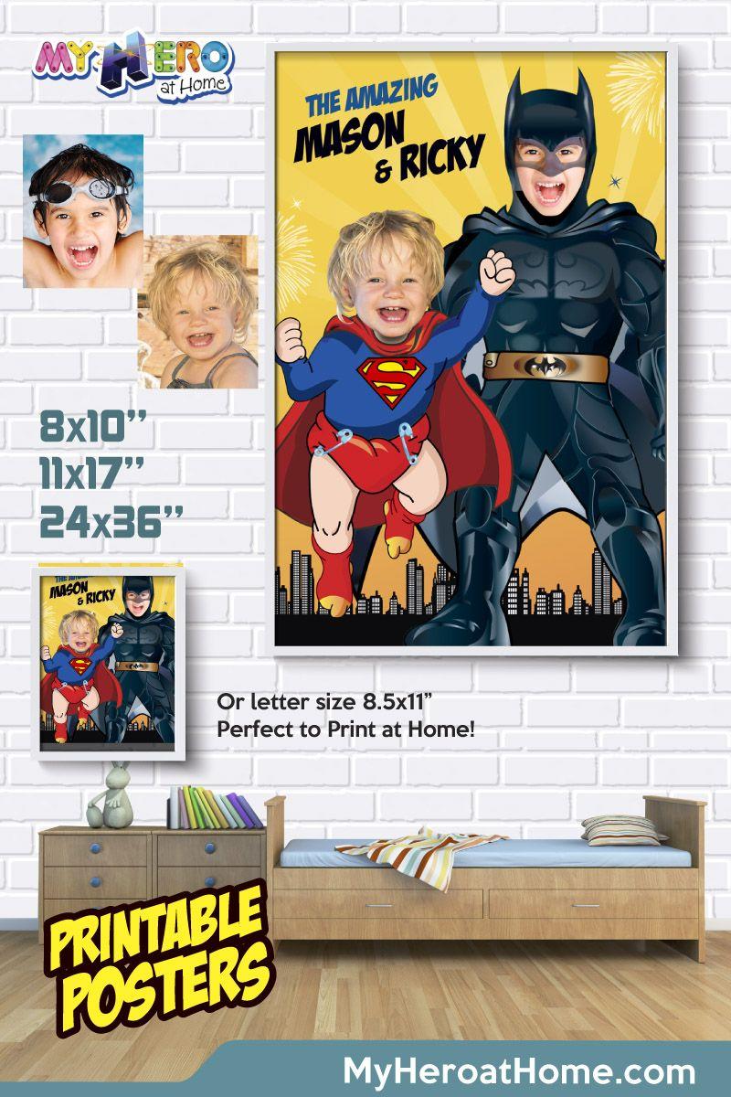 Superman And Batman Poster Super Siblings Poster Superman Poster Batman Poster Superman Decorations