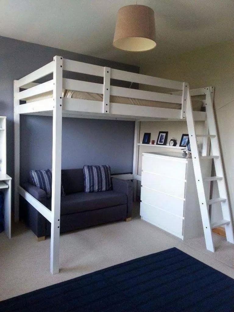 65 Admirable Dorm Room To Create Space Saving Storage Ideas 48 Hochbett Jugendzimmer Zimmer Einrichten Zimmer