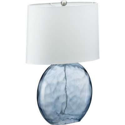 This Soothing Blue Glass Lamp Looks Just Like Sea Glass And Will Look Nice  In A