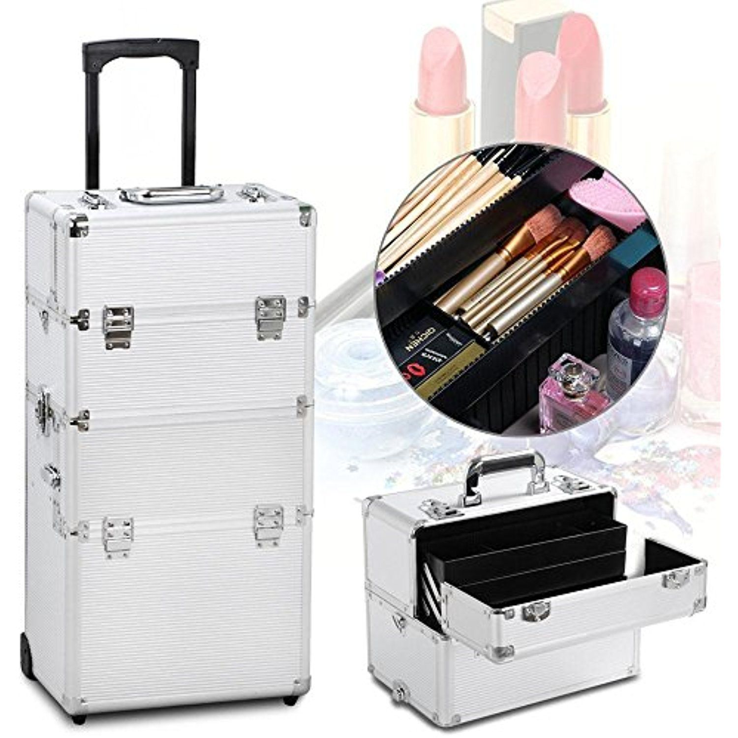 Gotobuy 3 in 1 Train Makeup Cosmetic Cases Nail Technician Supplies ...