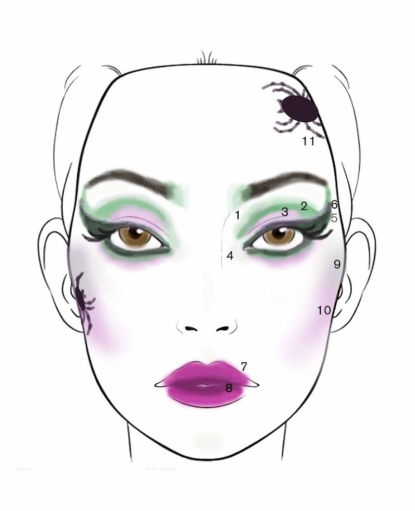 Halloween wicked witch makeup tutorial pretty squared halloween wicked witch makeup tutorial pretty squared baditri Images