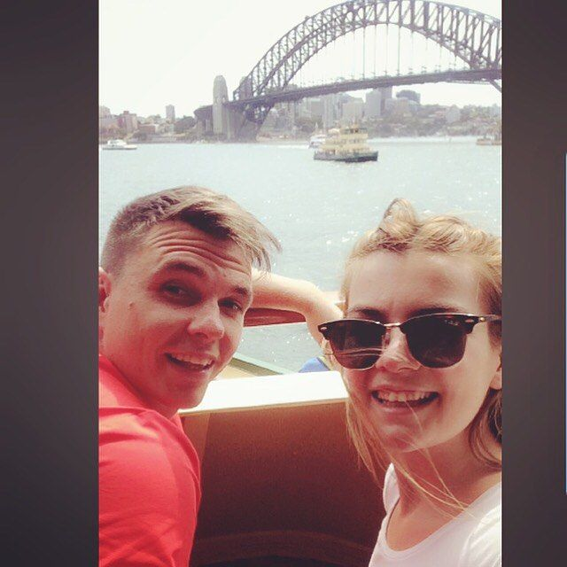 First day. Ferry to Manly beach  #sydneyharbourbridge by ciaraadx http://ift.tt/1NRMbNv