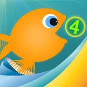 Voer je vis en speel met nummers!  Oefen optellen met Motion Math: Hongerige Vis, een heerlijk educatief spel voor kinderen van 4 jaar en ouder (zelfs met uitdagende niveau's voor ouderen!)