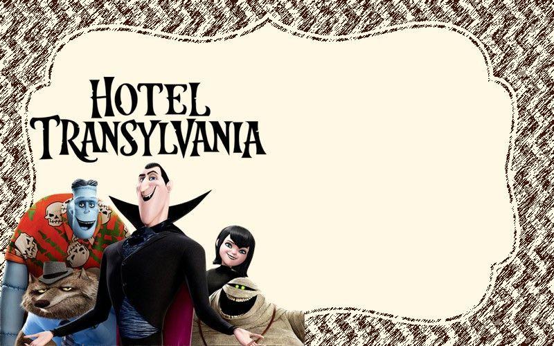 8 Free Hotel Transylvania Invitation Templates With Images