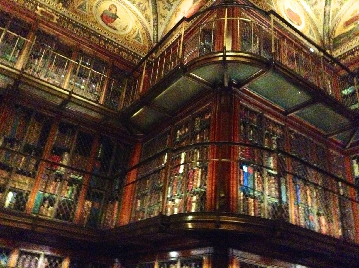 The Morgan Library & Museum, New York City, New York - The original 1906 private library of financier Pierpont Morgan is breathtaking and his enormous collection of rare books, manuscripts, drawings and other uncommon pieces rivals any national collections.    #Museums #NewYork #NYC