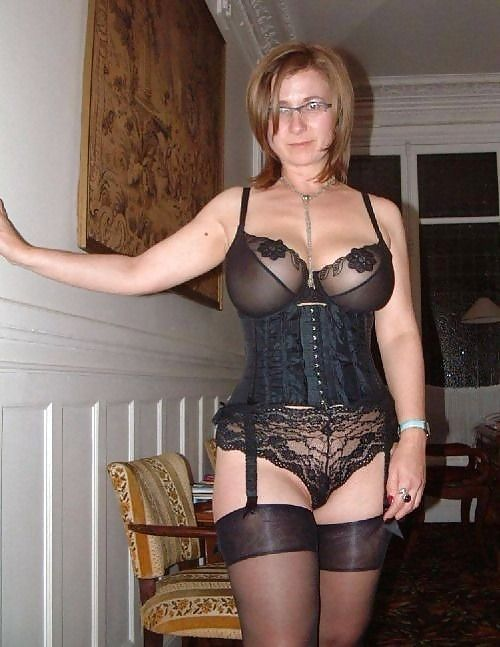 Mature stockings high heels