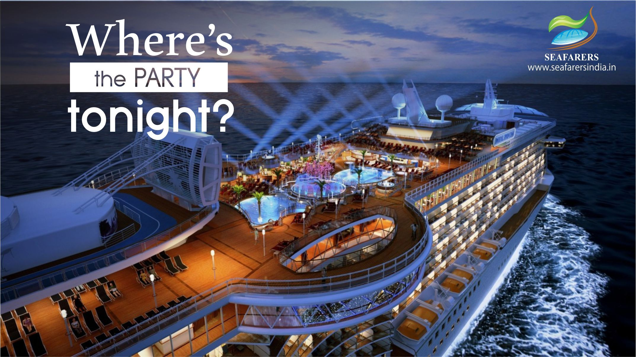 """Where's the Party tonight ?? """"It's on my ship"""". That's"""