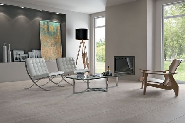 Carrelage en grès cérame moderne- 48 idées pour lu0027intérieur - moderne bodenfliesen wohnzimmer