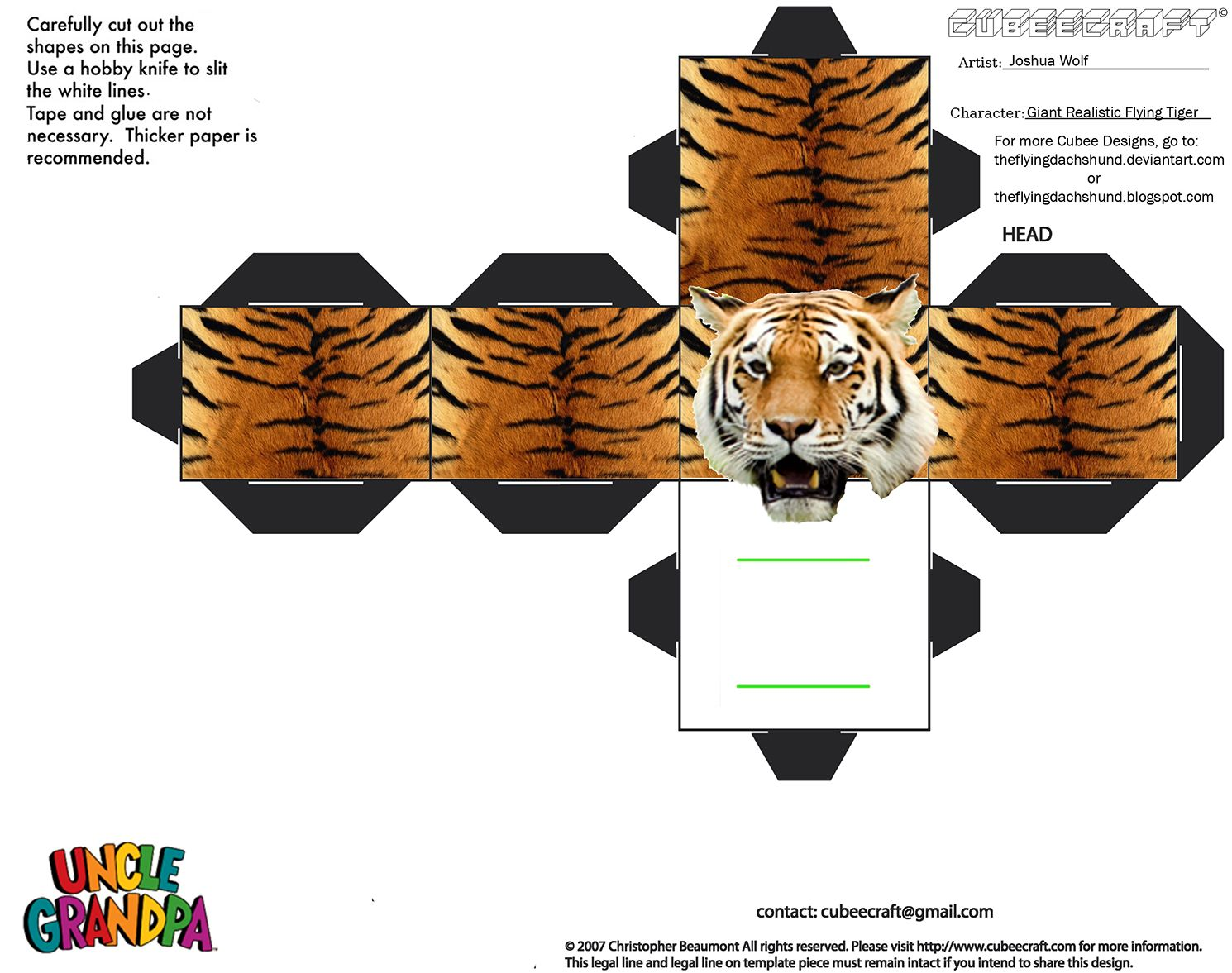 how to draw giant realistic flying tiger