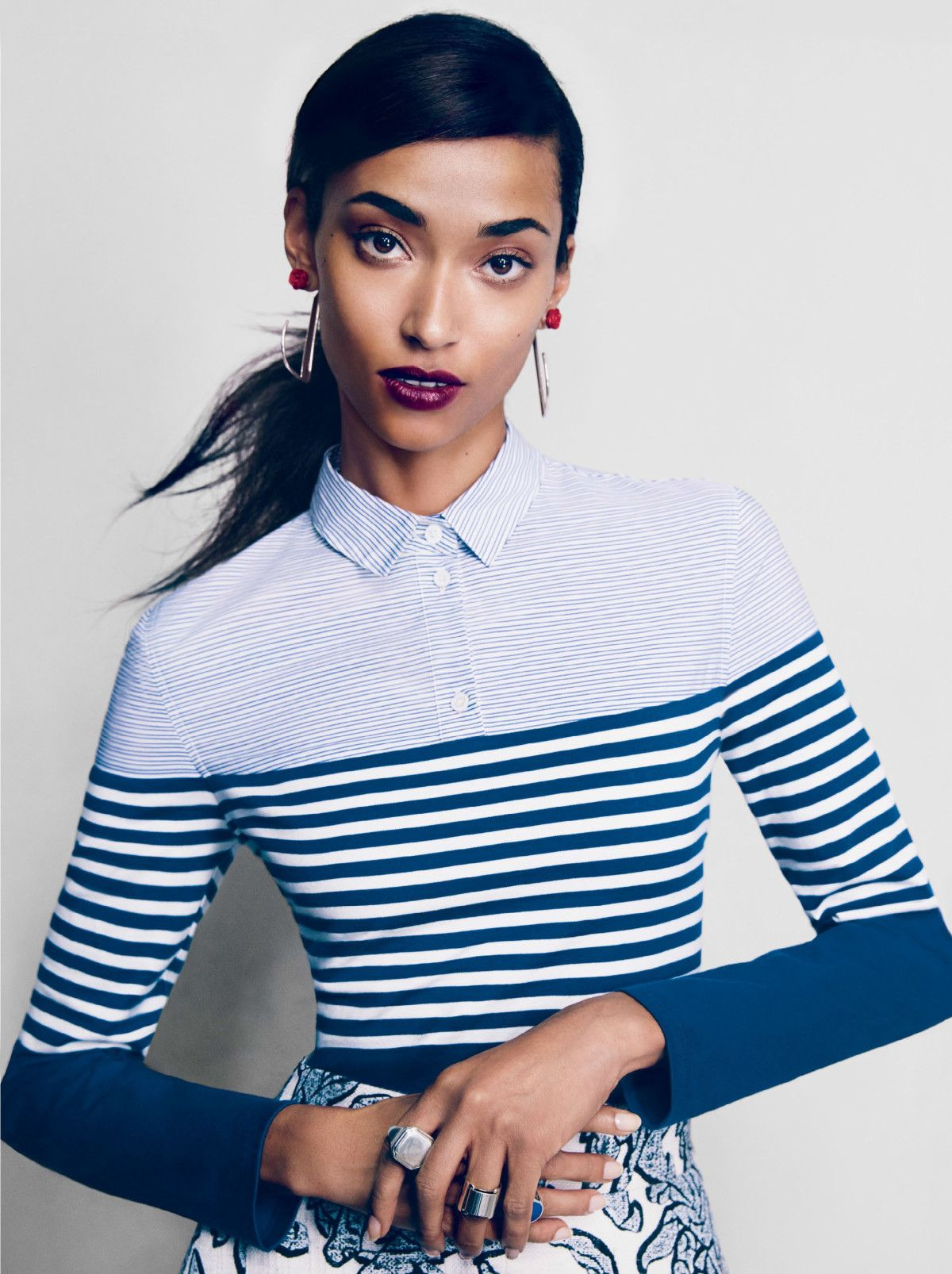 Sasha Pivovarova, Fei Fei Sun, Anais Mali by Patrick Demarchelier for Vogue US February 2014 5