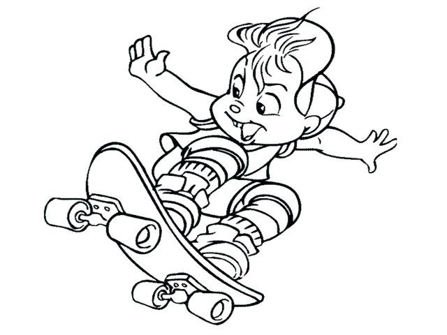 27+ Marvelous Image of Skateboard Coloring Page   Cartoon ...