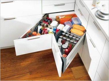 Règles Déco Pour Réussir Son Aménagement Cuisine Angles - Meuble de cuisine a tiroir pour idees de deco de cuisine