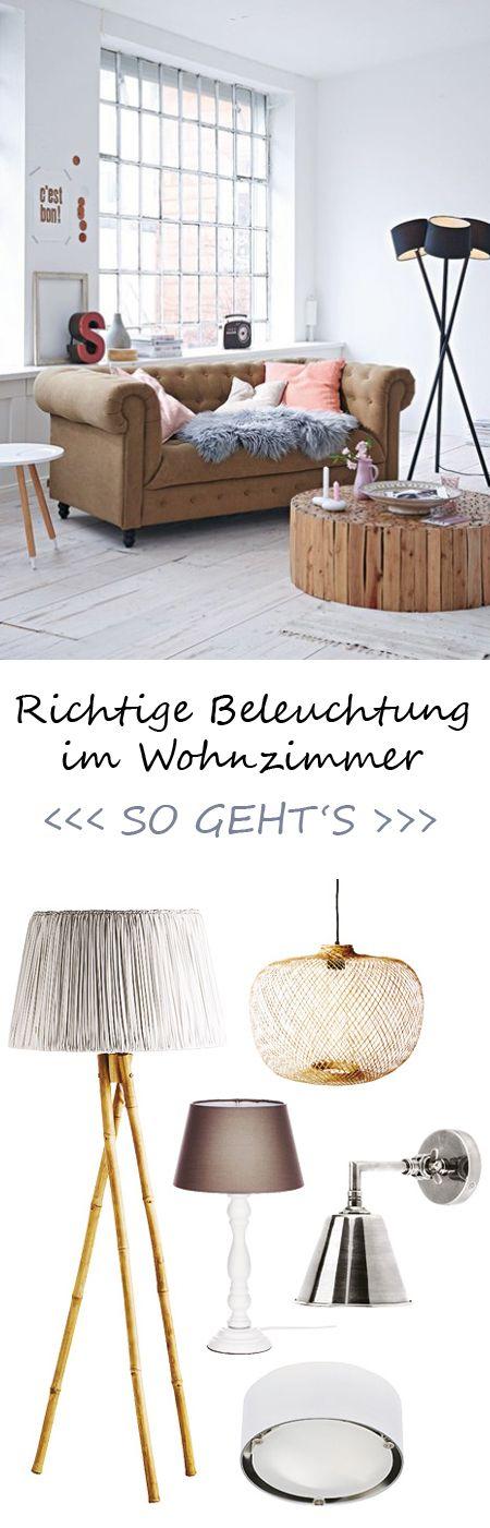richtige beleuchtung im wohn ess und schlafzimmer wohnzimmer pinterest klick lampen. Black Bedroom Furniture Sets. Home Design Ideas